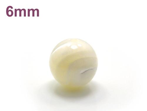 パワーストーン天然石ビーズ粒売り マザーオブパールAAA(6月誕生石)6ミリ 魔除・厄除 ハンドメイド・手作りアクセサリー用 (11709)