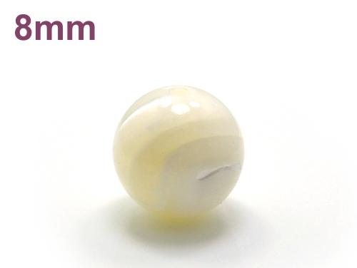 パワーストーン天然石ビーズ粒売り マザーオブパールAAA(6月誕生石)8ミリ 魔除・厄除 ハンドメイド・手作りアクセサリー用 (11710)