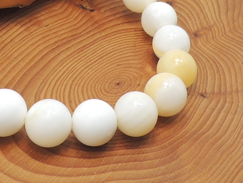 パワーストーンブレスレット ゴールデンシャコガイAAAA10ミリ 魔除・厄除 ワンカラーブレス [サイズ選べる][日本製][送料無料] (11712)