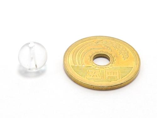 パワーストーン天然石ビーズ粒売り クリスタル(水晶)AAAAA最高品質(4月誕生日石)8ミリ 開運 ハンドメイド・手作りアクセサリー用 (11718)