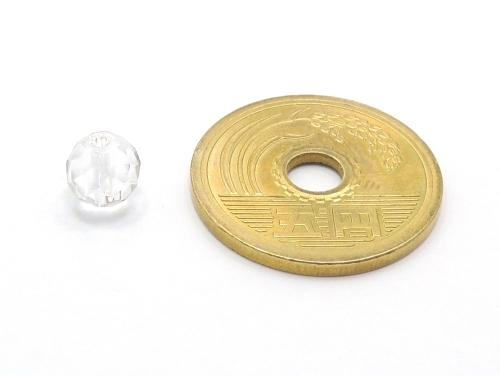 パワーストーン天然石ビーズ粒売り クリスタル(水晶)(64面カット)AAAA(4月誕生日石)6ミリ 開運 ハンドメイド・手作りアクセサリー用 (11721)