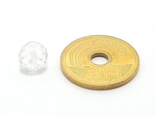 パワーストーン天然石ビーズ粒売り クリスタル(水晶)(64面カット)AAAA(4月誕生日石)8ミリ 開運 ハンドメイド・手作りアクセサリー用 (11722)
