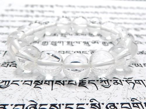 パワーストーンブレスレット クリスタル(水晶)(クラック入り)(4月誕生石)10ミリ 開運 ワンカラーブレス [サイズ選べる][日本製][送料無料] (11834)
