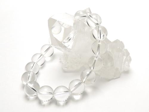 パワーストーンブレスレット クリスタル(水晶)AAAAA最高品質(4月誕生日石)10ミリ 開運 ワンカラーブレス [サイズ選べる][日本製][送料無料] (11835)