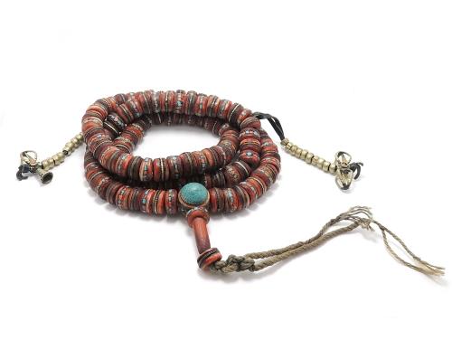 チベット密教法具 アンティーク ヤクボーン 108玉御数珠 超レア・入手困難・高級一点物現品限り