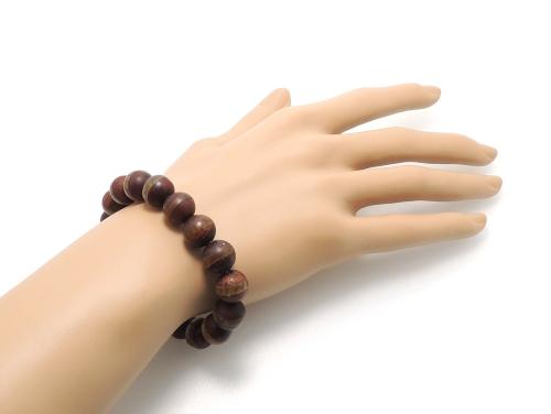 エスニックブレスレット・アジアンパワーストーン(メンズ) チベット天珠(紅朱砂一線)AAAA10ミリ 金運 ワンカラーブレス [サイズ選べる][日本製][送料無料] (11858)