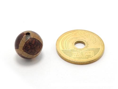 アジアン・エスニックパワーストーン天然石ビーズ粒売り チベット天珠(紅朱砂亀甲)AAAA12ミリ 金運 ハンドメイド・手作りアクセサリー用 (11866)