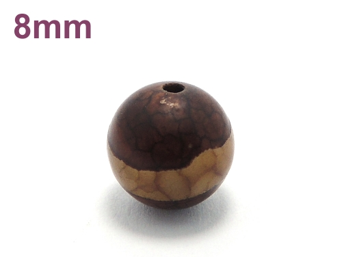 アジアン・エスニックパワーストーン天然石ビーズ粒売り チベット天珠(紅朱砂一線)AAAA8ミリ 金運 ハンドメイド・手作りアクセサリー用 (11868)