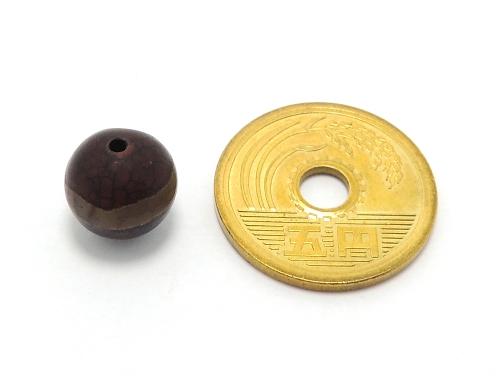 アジアン・エスニックパワーストーン天然石ビーズ粒売り チベット天珠(紅朱砂一線)AAAA10ミリ 金運 ハンドメイド・手作りアクセサリー用 (11869)