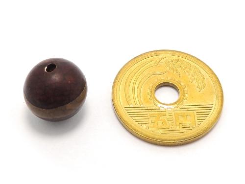 アジアン・エスニックパワーストーン天然石ビーズ粒売り チベット天珠(紅朱砂一線)AAAA12ミリ 金運 ハンドメイド・手作りアクセサリー用 (11870)