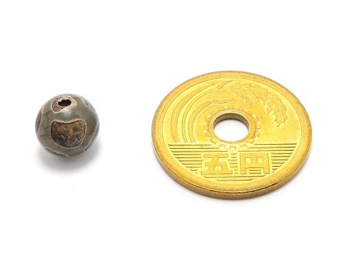 アジアン・エスニックパワーストーン天然石ビーズ粒売り チベット天珠(グリーン亀甲)AAAA8ミリ 金運 ハンドメイド・手作りアクセサリー用 (11875)