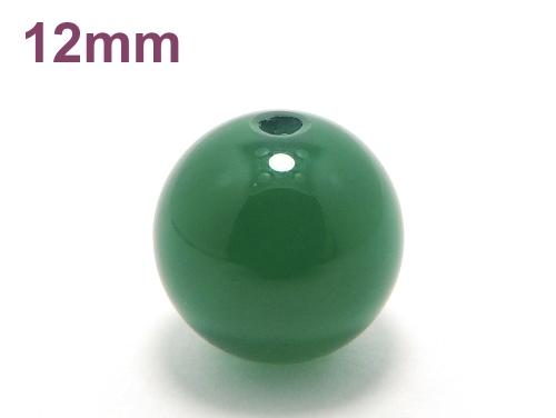 パワーストーン天然石ビーズ粒売り グリーンカルセドニーAAAA12ミリ 対人関係 ハンドメイド・手作りアクセサリー用 (11887)