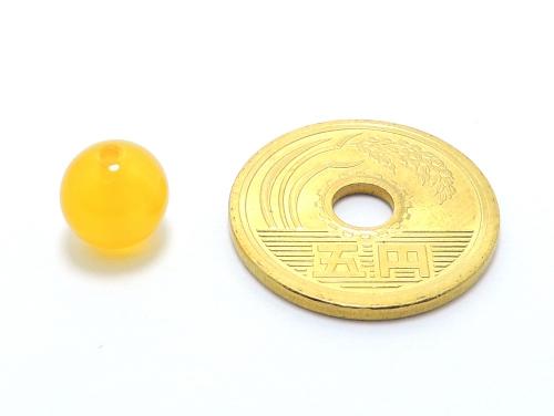 パワーストーン天然石ビーズ粒売り イエローカルセドニーAAAA8ミリ 対人関係 ハンドメイド・手作りアクセサリー用 (11889)