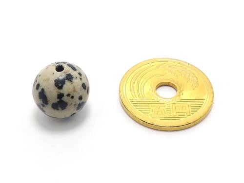 パワーストーン天然石ビーズ粒売り ダルメシアンジャスパーAAA12ミリ 才能開花 ハンドメイド・手作りアクセサリー用 (11892)