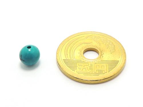 パワーストーン天然石ビーズ粒売り ハウライトターコイズ(ブルー)AAAA6ミリ 魔除・厄除 ハンドメイド・手作りアクセサリー用 (11902)