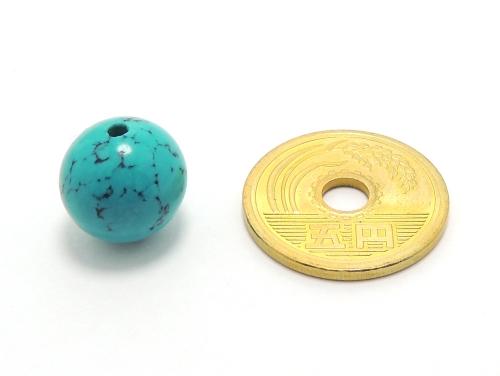 パワーストーン天然石ビーズ粒売り ハウライトターコイズ(ブルー)AAAA12ミリ 魔除・厄除 ハンドメイド・手作りアクセサリー用 (11905)