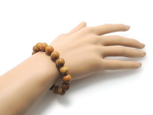 パワーストーンブレスレット グレイニネス(木紋石)AAA10ミリ 健康・癒し ワンカラーブレス [サイズ選べる][日本製][送料無料] (11916)
