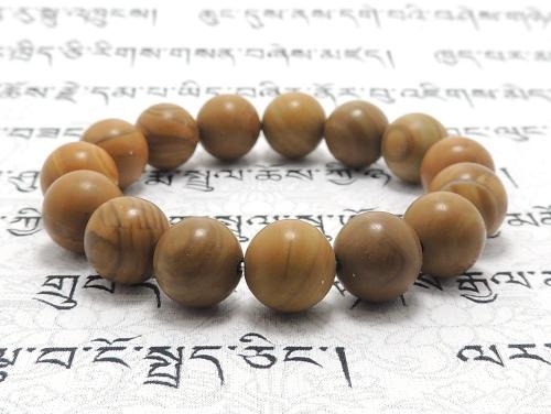 パワーストーンブレスレット(メンズ) グレイニネス(木紋石)AAA12ミリ 健康・癒し ワンカラーブレス [サイズ選べる][日本製][送料無料] (11917)
