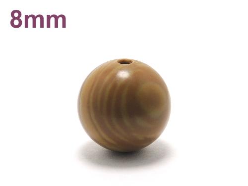 パワーストーン天然石ビーズ粒売り グレイニネス(木紋石)AAA8ミリ 健康・癒し ハンドメイド・手作りアクセサリー用 (11926)