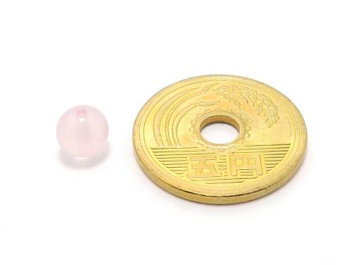 パワーストーン天然石ビーズ粒売り ピンクカルセドニーAAAA6ミリ 対人関係 ハンドメイド・手作りアクセサリー用 (11930)