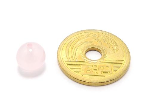 パワーストーン天然石ビーズ粒売り ピンクカルセドニーAAAA8ミリ 対人関係 ハンドメイド・手作りアクセサリー用 (11931)