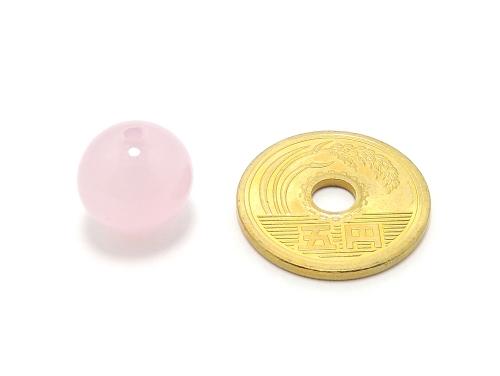 パワーストーン天然石ビーズ粒売り ピンクカルセドニーAAAA12ミリ 対人関係 ハンドメイド・手作りアクセサリー用 (11933)
