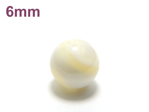 パワーストーン天然石ビーズ粒売り ゴールデンシャコガイAAAA6ミリ 魔除・厄除 ハンドメイド・手作りアクセサリー用 (11939)