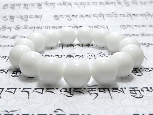 パワーストーンブレスレット ホワイトオニキスAAAA12ミリ 魔除・厄除 ワンカラーブレス [サイズ選べる][日本製][送料無料] (11970)