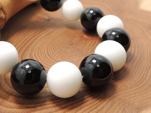 パワーストーンブレスレット オニキスAAAAA最高品質(8月誕生日石)12ミリ ホワイトオニキスAAAA12ミリ 魔除・厄除 [サイズ選べる][日本製][送料無料] (11973)