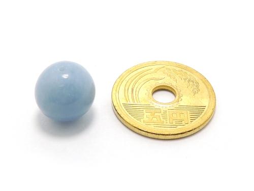 パワーストーン天然石ビーズ粒売り エンジェライトAAAA12ミリ 対人関係 ハンドメイド・手作りアクセサリー用 (11977)