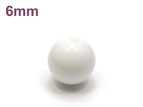パワーストーン天然石ビーズ粒売り シャコガイAAAA6ミリ 魔除・厄除 ハンドメイド・手作りアクセサリー用 (11978)