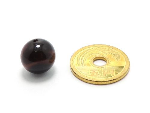 パワーストーン天然石ビーズ粒売り レッドタイガーアイAAAA(10月誕生日石)12ミリ 金運 ハンドメイド・手作りアクセサリー用 (12008)