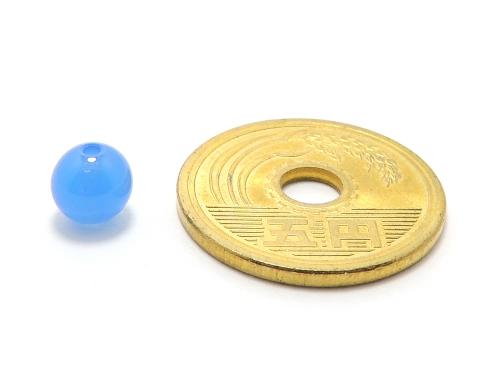 パワーストーン天然石ビーズ粒売り ブルーカルセドニーAAAA6ミリ 対人関係 ハンドメイド・手作りアクセサリー用 (12010)