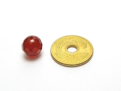 パワーストーン天然石ビーズ粒売り レッドアゲート(64面カット)AAAA10ミリ 魔除・厄除 ハンドメイド・手作りアクセサリー用 (12039)