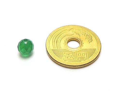 パワーストーン天然石ビーズ粒売り グリーンカルセドニー(64面カット)AAAA6ミリ 対人関係 ハンドメイド・手作りアクセサリー用 (12041)