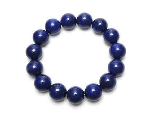 パワーストーンブレスレット(メンズ) ラピスラズリAAAAA最高品質(9月誕生日石)12ミリ 開運 ワンカラーブレス [サイズ選べる][日本製][送料無料] (12051)