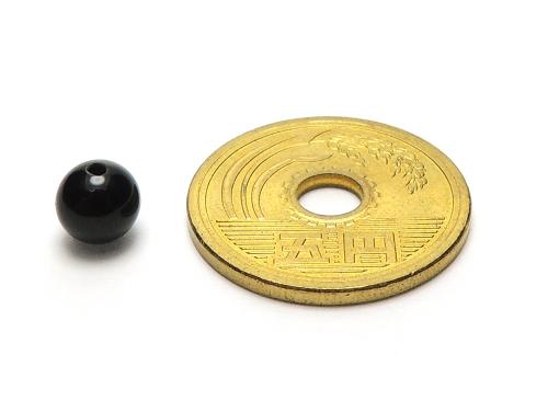 パワーストーン天然石ビーズ粒売り オニキスAAAAA最高品質(8月誕生日石)6ミリ 魔除・厄除 ハンドメイド・手作りアクセサリー用 (12052)