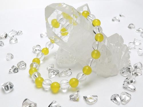 パワーストーンブレスレット サーペンティンAAAA6ミリ クリスタル(水晶)AAAAA最高品質(4月誕生日石)6ミリ 魔除・厄除・開運 [サイズ選べる][日本製][送料無料] (12069)