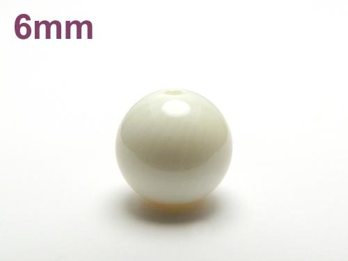 パワーストーン天然石ビーズ粒売り ホワイトコーラルAAAA(3月誕生日石)6ミリ 健康・癒し ハンドメイド・手作りアクセサリー用 (12087)
