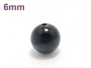 パワーストーン天然石ビーズ粒売り ブルータイガーアイAAAA6ミリ 金運 ハンドメイド・手作りアクセサリー用 (10016)