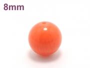 パワーストーン天然石ビーズ粒売り オレンジコーラルAAAA(3月誕生日石)8ミリ 魔除・厄除 ハンドメイド・手作りアクセサリー用 (10031)