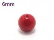 パワーストーン天然石ビーズ粒売り レッドコーラル(山珊瑚)AAAA(3月誕生日石)6ミリ 魔除・厄除 ハンドメイド・手作りアクセサリー用 (10038)