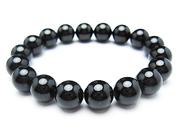 パワーストーンブレスレット(メンズ) ブラックトルマリンAAAA(10月誕生日石)10ミリ 開運 ワンカラーブレス [サイズ選べる][日本製][送料無料] (10195)