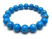 パワーストーンブレスレット ハウライトトルコ(ブルー)10ミリ 健康・癒し [サイズ選択可][日本製][送料無料] (10293)