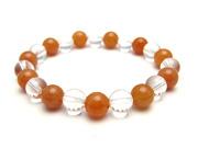 パワーストーンブレスレット オレンジアベンチュリンAAA(5月誕生日石)8ミリ クリスタル(水晶)AAAAA最高品質(4月誕生日石)8ミリ 仕事運・開運 [サイズ選べる][日本製][送料無料] (10568)
