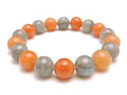 パワーストーンブレスレット ラブラドライトAAA10ミリ オレンジアベンチュリンAAA(5月誕生日石)10ミリ 仕事運 [サイズ選べる][日本製][送料無料] (10980)