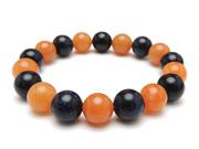 パワーストーンブレスレット オレンジアベンチュリンAAA(5月誕生日石)10ミリ ブルーゴールドストーン(人工石)10ミリ 仕事運 [サイズ選べる][日本製][送料無料] (11041)