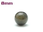 パワーストーン天然石ビーズ粒売り グレーオブシディアン(黒曜石)AAAA8ミリ 才能開花 ハンドメイド・手作りアクセサリー用 (11078)