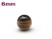 パワーストーン天然石ビーズ粒売り タイガーアイAAAA6ミリ 金運 ハンドメイド・手作りアクセサリー用 (11079)