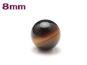 パワーストーン天然石ビーズ粒売り タイガーアイAAAA(10月誕生日石)8ミリ 金運 ハンドメイド・手作りアクセサリー用 (11080)